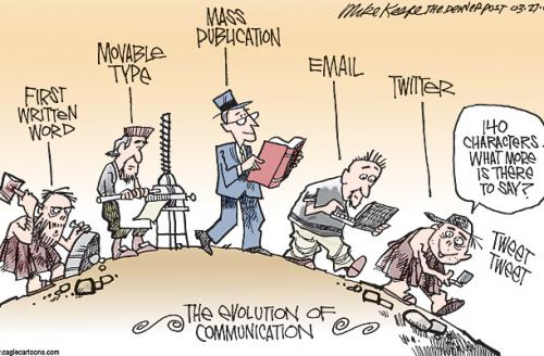 sosyal medya karikatür