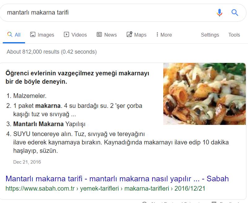 google aramaları serp sıfır sonuçları
