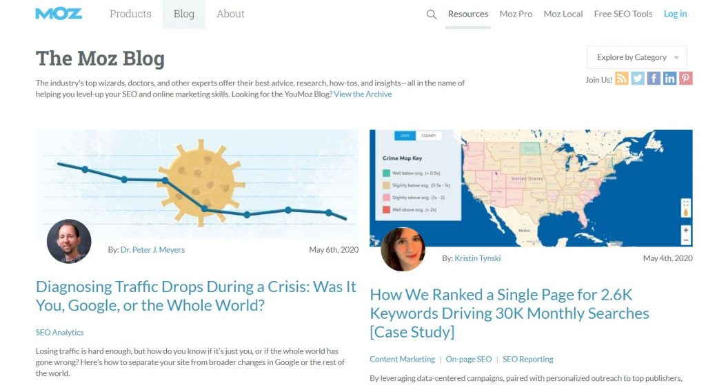 Dijital pazarlama blogu tavsiyesi - MOZ Blog
